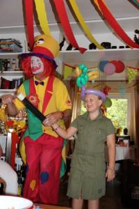 Clown August auf Kindergeburtstag in Bochum