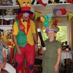 Clown August bei der Kinderzaubershow in Bochum