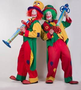 Ballonkünstler Clown Pippy und Clown August von den Clownsbrothers NRW