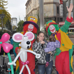 Walk Act der Ballonkünstler Clown August und Clown Pippy in Bochum