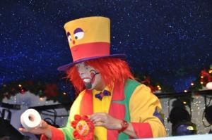 Clown August aus Bochum ist Toilettenpapier in Unna