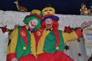 Clown August und Clown Pippy beim Auftritt in Herne