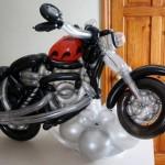 Motorrad als Ballonfigur
