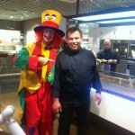 Clown August als Walking Act in Gelsenkirchen