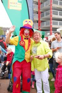 Clown Witten -Clown August auf einem Straßenfest in Witten