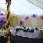 Ballondekoration für eine Hochzeit in Bochum