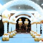 Ballondekoration auf einer Hochzeit in Köln