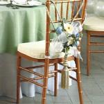 Stuhldekoration auf einer Hochzeit in Dortmund